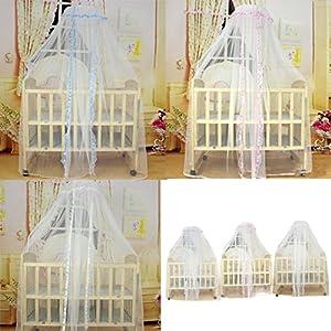 Crib Netting Store WensLTD Mosquito Mesh Dome Curtain Net for Toddler Crib
