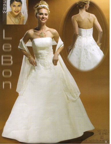 Lebon Bridal Couture #A358W Ivory Size 10 w/Matching Shawl Formal Bridal Gown Wedding Dress