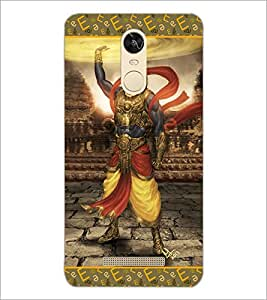 PrintDhaba Lord Krishana D-5698 Back Case Cover for XIAOMI REDMI NOTE 3 PRO (Multi-Coloured)
