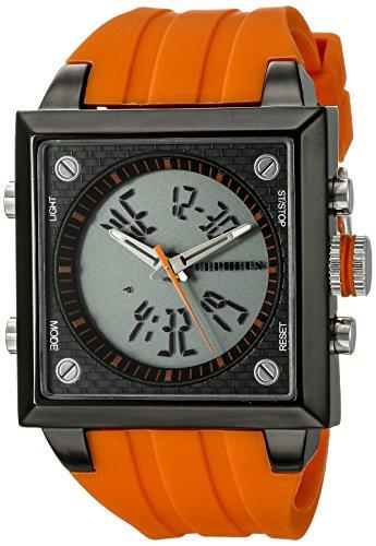 Cepheus Men's Quartz Watch with Orange Dial Analogue - Digital Display and Orange Silicone Strap CP900-690C