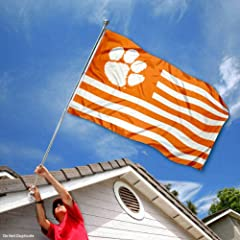 Buy Clemson Tigers Alumni Nation Stripes Flag by College Flags and Banners Co.