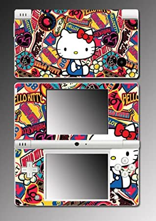 Hello Kitty Pink Cute Princess Girl Game Vinyl Decal Skin Protector Cover #8 for Nintendo DSi