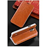 For Samsung Galaxy S5 Mini Phone Premium Leather Flip Cover Case With Stand By MOFI - Brown