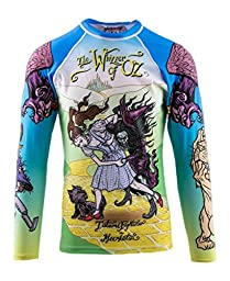 Tatami Fightwear Men\'s Meerkatsu Whizzer Of Oz BJJ MMA Rash Guard Medium