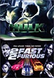 echange, troc Coffret Adrénaline 2 DVD : Hulk / 2 Fast 2 Furious