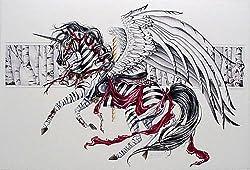 Nene Thomas Moonlight Silver Zebra Carousel Horse LE Print