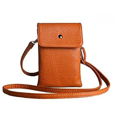 Women Soft LeatherCrossbody CellphonePurse Bag, Small WalletwithShoulderStrap + KatlooNailClipper