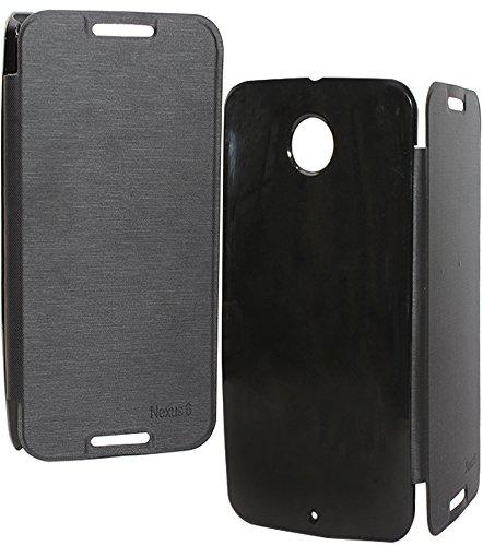 DMG Premium Hard Back Flip Book Cover Case for Motorola Nexus 6 (Black)  available at amazon for Rs.199