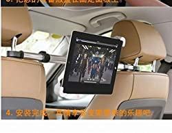 KaLaiXing Best Universal 360 Degree Rotating Car Headrest Mount Tablet Support Holder Stand for 7-11 inch Tablets