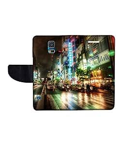 KolorEdge Printed Flip Cover For Samsung Galaxy S5 Multicolor - (50KeMlogo09854SamS5)