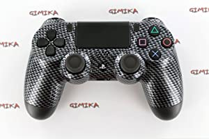 """Black Carbon Fiber"" PS4 Customized Dual Shock 4 Controller - Exclusive COD"