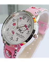 Hello Kitty Girls Quartz Leather