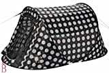 Regatta 2 Man Pop Up Tent - Black and White / Polka Dots