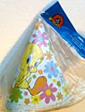 Vintage TOTALLY TWEETY Retro 1970's Style Party Hat LOONEY TUNES (Pack of 8)