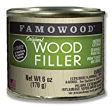 FAMOWOOD Original Wood Filler - Oak/Teak - 1/4 Pint Net Wt 6oz(170g)