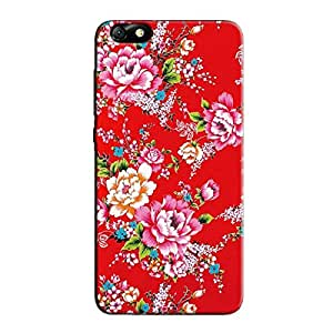 RED FLORAL BACK COVER FOR HONOR 4X