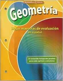 Geometria Hojas maestras de evaluatacion en espanol
