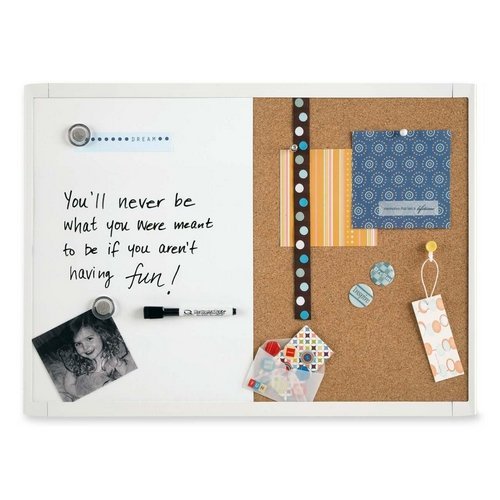 Quartet White Magnetic and Combination Board, 11 x 17 Inches, White Frame (MHOC1117)