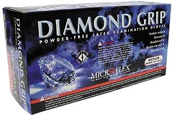 Microflex MF300XL Powder Free Diamond Grip Latex Gloves Size Extra Large (100 per Box)