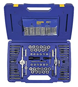 Irwin Tools 26377 117 Piece Machine Screw/Fractional/Metric Tap and Hex Die Set with Drill Bit Set
