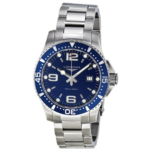 S%$ Longines HydroConquest Blue Dial Stainless Steel Mens