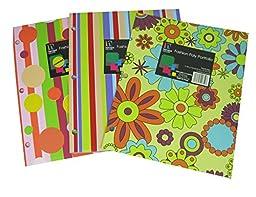 6 Pk, Harvard Square Fashion Poly Portfolio Folders