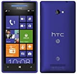 HTC 8X Windows 8 AT&T Phone (8GB) – Blue Color – UNLOCKED – NO CONTRACT – ONE YEAR US WARRANTY