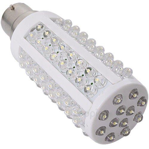 Pure White B22 108 Led Bulb Light Energy Saving 360°New