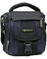 Evecase étui Housse en nylon avec Strap - noir et bleu pour Olympus E-M5, E-M10, SP-100EE, PEN E-PL5 DZK, Appareil photo numérique hybride Ecran 3