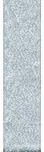 Offray Galena Metallic Craft Ribbon, 5/8-Inch Wide by 100-Yard Spool, Silver
