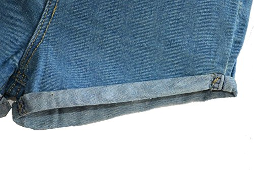 Juniors's Denim Vintage Retro High Waist Jeans Short 3