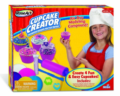 RoseArt Cupcake Creator Air Dry Modeling Clay Kit, Assorted Colors (48128)
