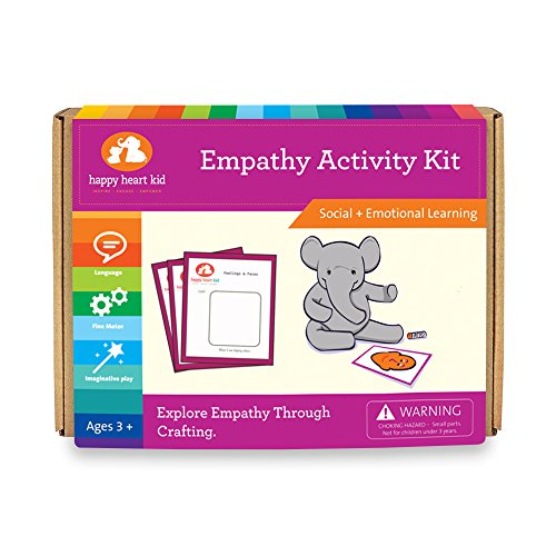 Empathy Activity Kit - Educational Crafts and Feelings Game - For Montessori, Waldorf and Kids with Autism - Used in Occupational Therapy for Preschoolers to develop Social Skills- Ages 3-6 years