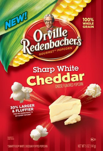 Orville Redenbacher Ready To Eat Popcorn, Sharp White Cheddar, 5-Ounce (Pack Of 4)