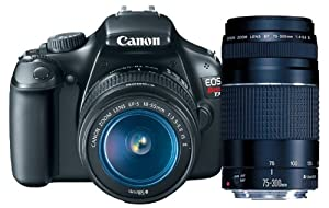 Canon EOS Rebel T3 12.2 MP CMOS Digital SLR with 18-55mm IS II Lens + Canon EF 75-300mm f/4-5.6 III Telephoto Zoom Lens