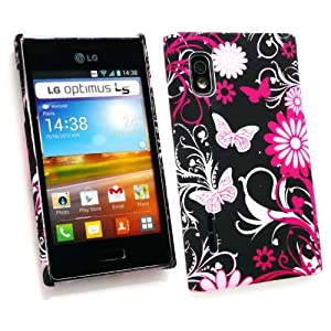 u00ae Lg E610 Optimus L5 Clip Giardino Rosa Su Protection Case / Cover ...