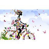 Tallenge Art For Kids - Butterfly Fairy Girl - A3 Size Rolled Poster For Kids Room Décor