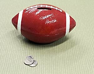 Football sports themed coin piggy bank for boys men toys games - Coin banks for boys ...