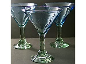 Wilton Armetale BelloVaso Azuro 7-Ounce Martini Glass, Free-Blown Glass