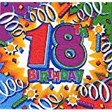"""Servietten Happy Birthday 18von """"Amscan"""""""