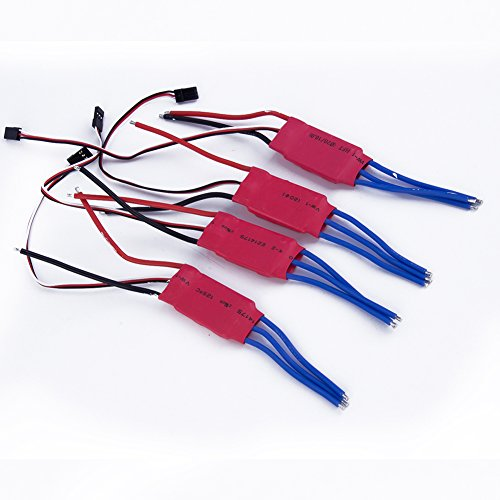 DIYmall Simonk 30A FIRMWARE Brushless ESC Set with 3A/5V BEC for DJI450 RC Quadcopter Multi-copter APM2(4 PCS) (4 Brushless Motors Quadcopter compare prices)