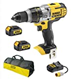 Dewalt DCD985 DCD985N 18V Xr Li-Ion 3 Speed Xrp Combi Drill, 2 DCB180 Batteries, 110V DCB105 Charger And Bag