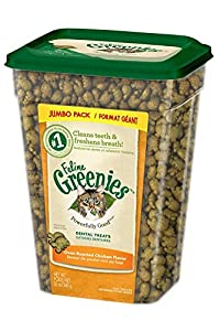 Greenies 1 Count Feline Dental Treat Oven Roasted Chicken for Cats, 12 oz from Greenies