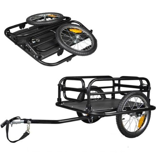 Veelar Foldable Bicycle Cargo Trailer Shopping/Utility Trailer-20300 (Bike Trailer Folding compare prices)