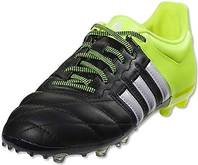 adidas ACE 15.1 FG/AG Leather Junior Soccer Cleats (Solar Yellow, Black)