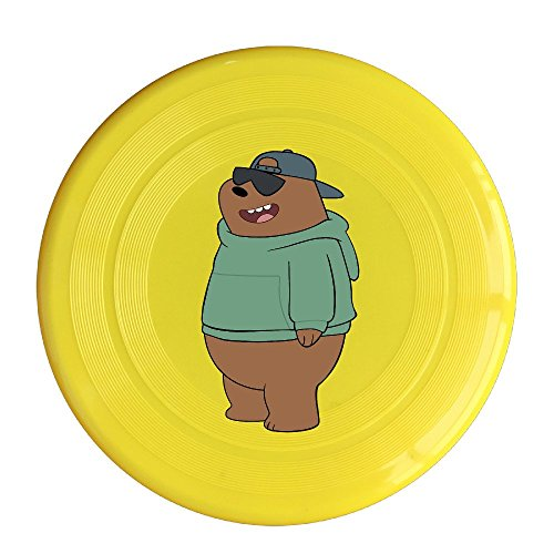 XJBD Unisex Bear With Glasses Outdoor Game, Sport, Flying Discs,Game Room, Light Up Flying, Sport Disc ,Flyer Frisbee,Ultra Star Yellow One Size