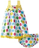 Blueberi Boulevard Baby-girls Newborn A-Line Pleated Sundress