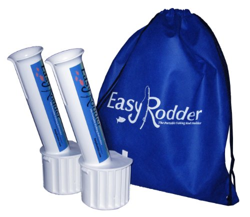 Easy Rodder Fishing Rod Pole Holders For Replacing Boat Cup Holders - 2 Pack With Storage Bag