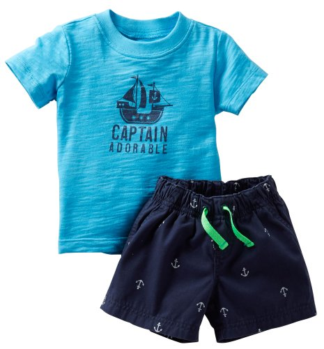 Carter'S Baby Boys' 2 Piece Shorts Set (Baby) - Blue - 12 Months front-137828