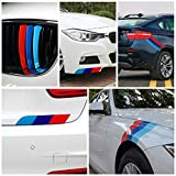 M-colored Stripe Car Sticker Decal for Grille Fender Hood Bumper Trunk for BMW M3, M4, M5, M6, X1, X3, Mini